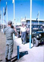 Street of Flags , Vinh Long with Bob Hope's arrival Dec 1964