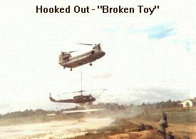 Broken Chopper being Hooked Out